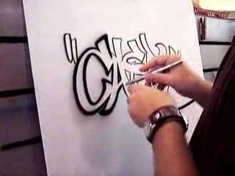 airbrushed graffiti name
