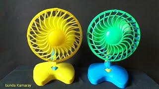 Mini fan blue and yellow - quạt đồ chơi