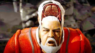 Mortal Kombat XL - All Fatalities & X-Rays on Santa Claus Costume Skin Mod 4K Ultra HD Gameplay Mods