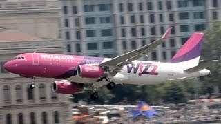 A Nagy Futam II. - WizzAir Airbus A-320 lowpass over Danube, Budapest