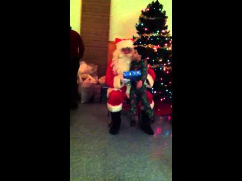 Dylan with Santa