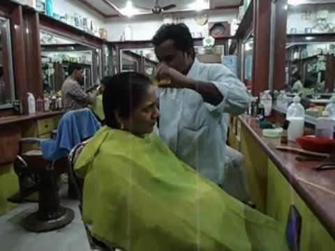 Aruna Sharma In Hair Salon Lanka Varanasi, India For Haircut Jan 15