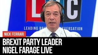 Nigel Farage Answers Listeners' Questions - European Elections - LBC