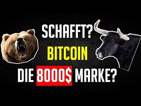 SCHAFFT BITCOIN DIE 8000$? Krypto Analyse