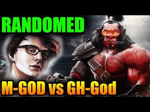 Miracle- RANDOMED Axe OFFLane vs GH-God - Dota 2