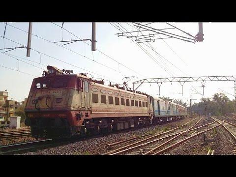Ir : Bsl Wap-4 Hauled Shining Lhb Coaches Of 22109 Ltt - Nzm Ac Exp Skips Vasind..!!! video
