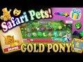 SAFARI PETS OPENING! RARE GOLDEN PONY + PROMO STATUE ON ANIMAL JAM! -