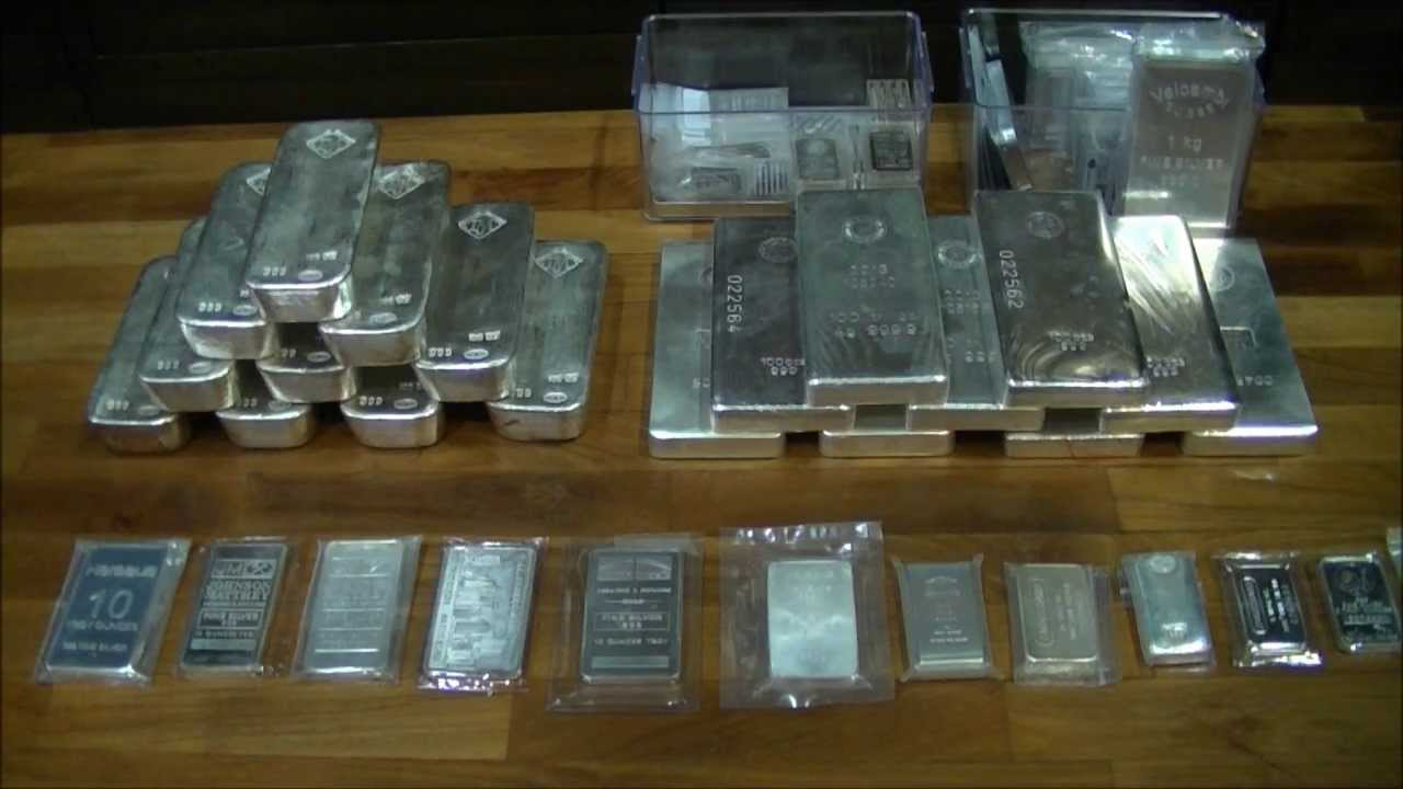 Silver Bars Johnson Matthey 100oz And Others Youtube