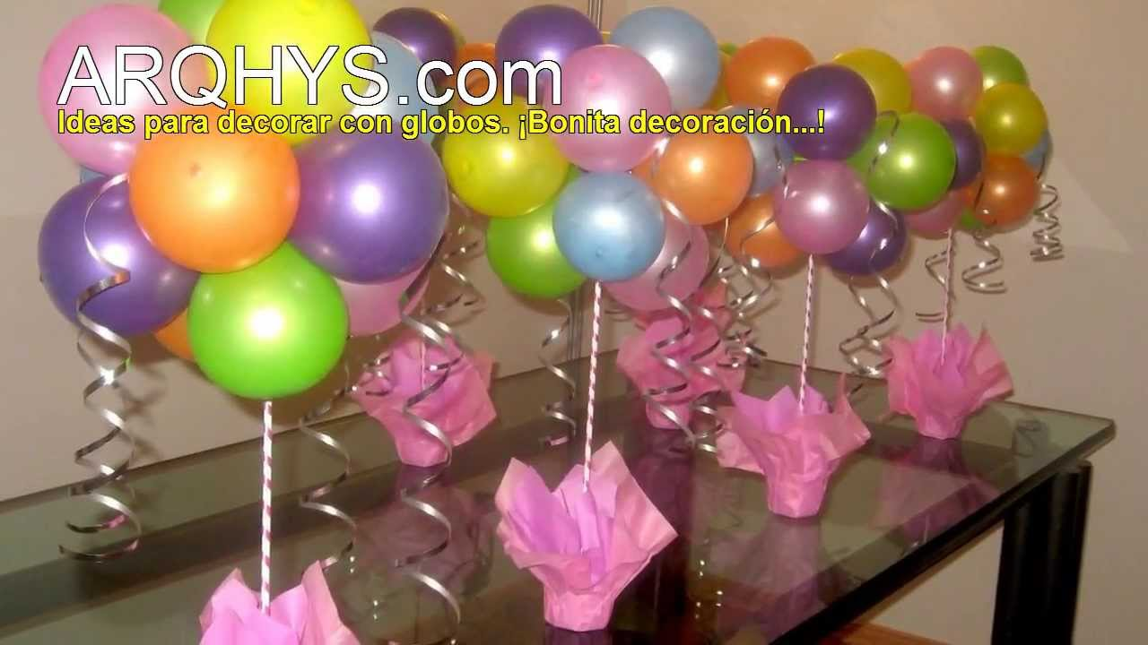 Ideas para decorar con globos youtube for Decoracion de puertas para cumpleanos