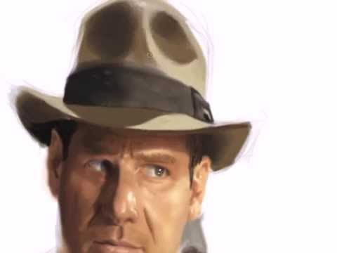 Indiana Jones - Speed Painting by S. Maguire Video