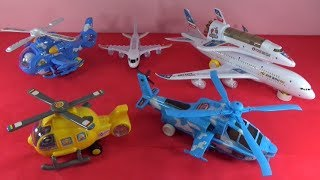 UNBOXING BEST TOYS :  Cartoon helicopter Airbus plane Flicker Helicopter space shuttle NASA toys