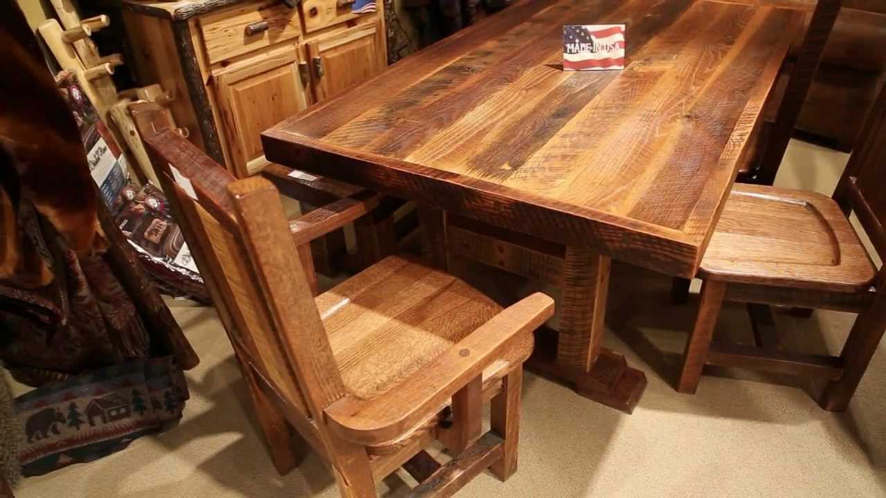 Harvest Barnwood Dining Table Farmhouse Reclaimed Table