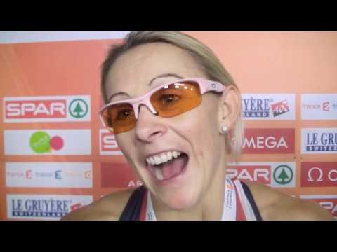 Jenny Meadows (GBR) after 800m + 4*400m final