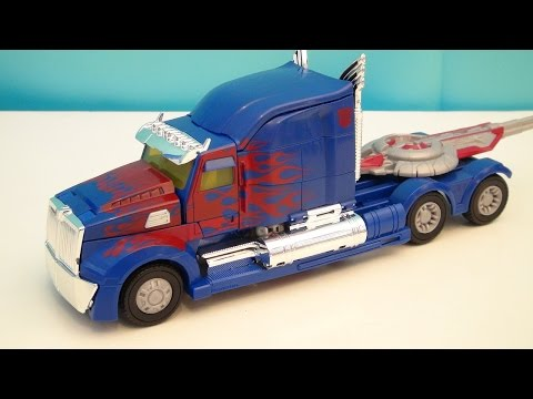 TRANSFORMERS 4 OPTIMUS PRIME LEADER CLASS AGE OF EXTINCTION VIDEO TOY REVIEW