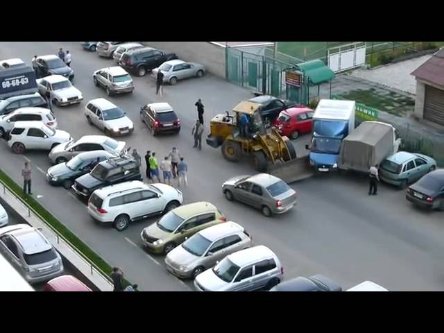 Accidente de transito - chofer de excavadora borracho