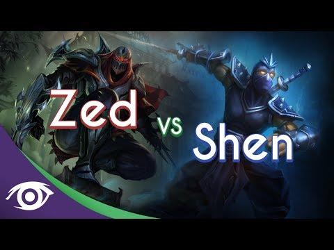 1v1 Mid: Zed vs Shen [Champion Rap Battles]