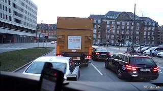 Delivery in Copenhagen. Truck / Lorry driver in Denmark