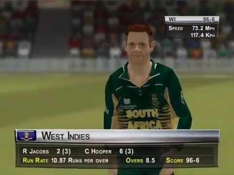 Brian Lara Cricket 2005 : WC 2003 with West Indies , Match 1 : South Africa