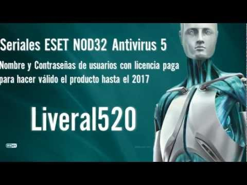 Serial para ESET NOD32 Hasta 2014