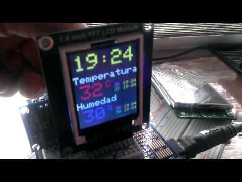Termómetro + lcd + reloj + arduino