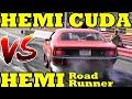 Hemi War - Hemi Cuda v Hemi Road Runner - 1/4 Mile Drag Race Video - Road Test TV ® MP3