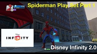 Disney Infinity 2.0 Spiderman Play Set Gamepaly Part 1