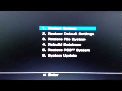 PS3 safe mode tutorial