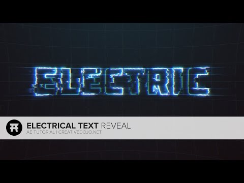 After Effects: Electrical Text Reveal Tutorial