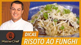 RISOTO AO FUNGHI com Rafael Gomes   DICAS MASTERCHEF