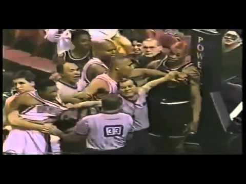 Allen Iverson (Rookie, Age 21) & Dennis Rodman (Age 35) Altercation (December 21, 1996)