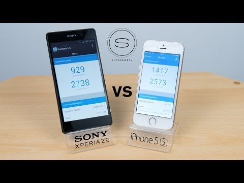 Xperia Z2 vs iPhone 5s - Speed Test + Benchmark