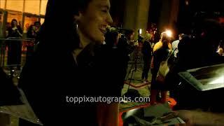 Tess Haubrich signs autographs for TopPix