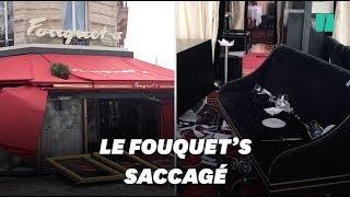 Le Fouquet's vandalisé pendant l'acte XVIII des gilets jaunes
