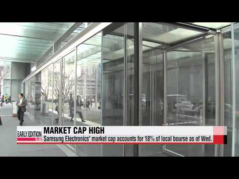 Samsung Electronics′ market cap hits record high for this year   ′대장주′ 삼성전자 시가총액