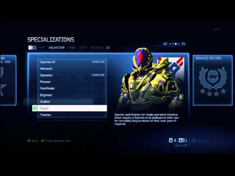 Halo 4 Tips & Tricks | Rogue Specialization Details | Unlock Armor & Stability Support Upgrade