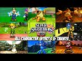 Super Smash Bros. for Nintendo 3DS - All Character Intros and Taunts