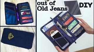 DIY JEANS PURSE BAG/ Cute Pouch Phone Money Bag/ Old Jeans Recycle Idea