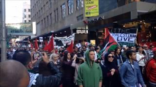 Australian Palestinian Protest -  Anti Israel - Anti America - Sydney July 13 2014
