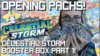 Opening Packs: Celestial Storm Boosterbox part 1!
