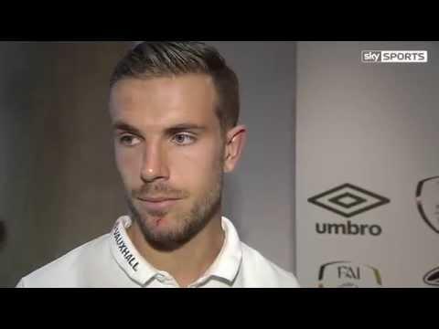 Republic of Ireland v England - Post Match Interviews - Jordan Henderson and Ryan Bertrand (7/6/15)