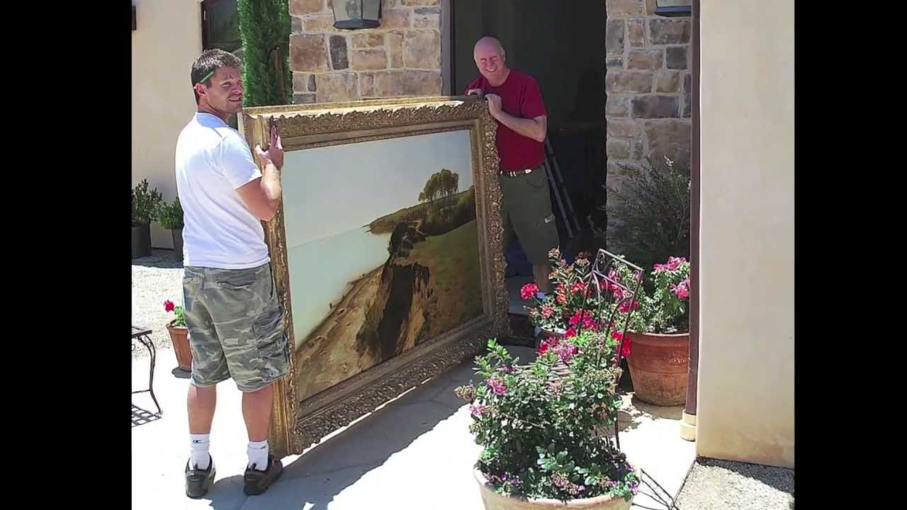 how to hang a large painting 5 great essential tips