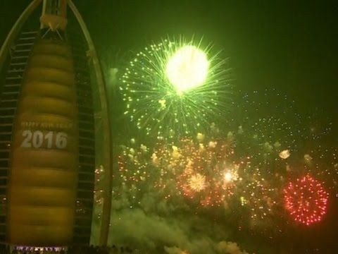 Raw: Dubai Rings In New Year With Fireworks