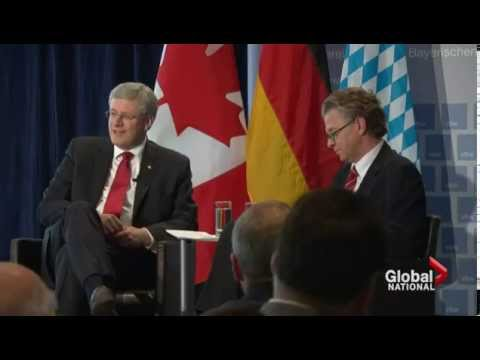 Harper talks trade, economy, and Ukraine crisis while abroad in Germany