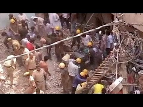 Desperate search for survivors continues after two buildings collapse in India