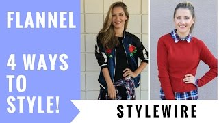 How to Style A Flannel   4 Ways (StyleWire)   Hollywire