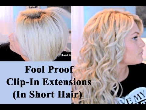 Blended Hair Extensions Extensions in Short Hair