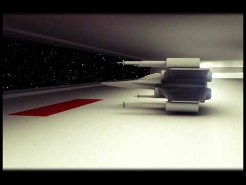 Взлет корабля с космической станции
