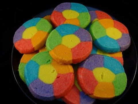 Rainbow Jell-O Sugar Cookies- Szivárványos sütik