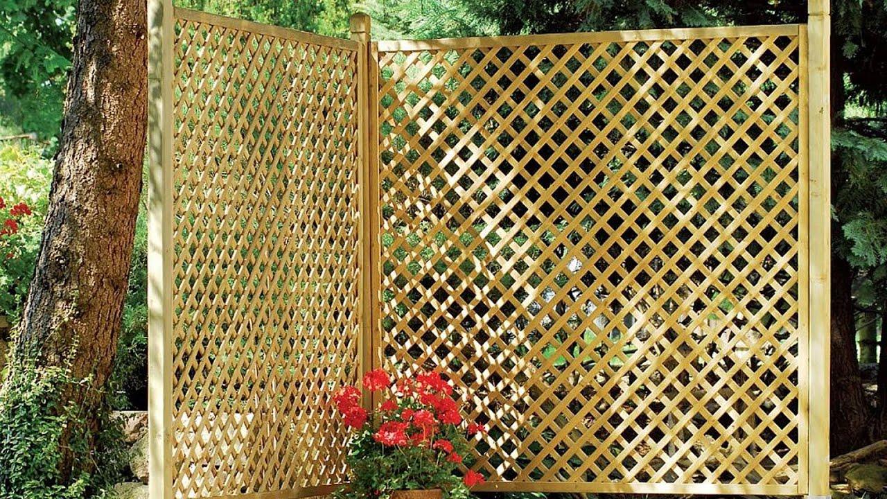Как сделать решетчатый забор из реек своими руками 26