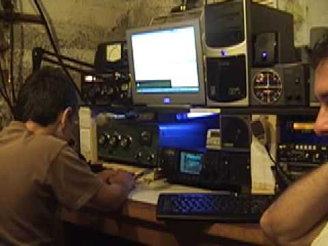 10 year old Andy on 20 meters Ham Radio